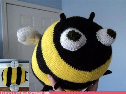 bee giant Knitted Plush stuffed - 5129772032
