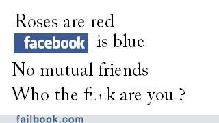 facebook mutual friends poem roses are red who are you - 5130326016