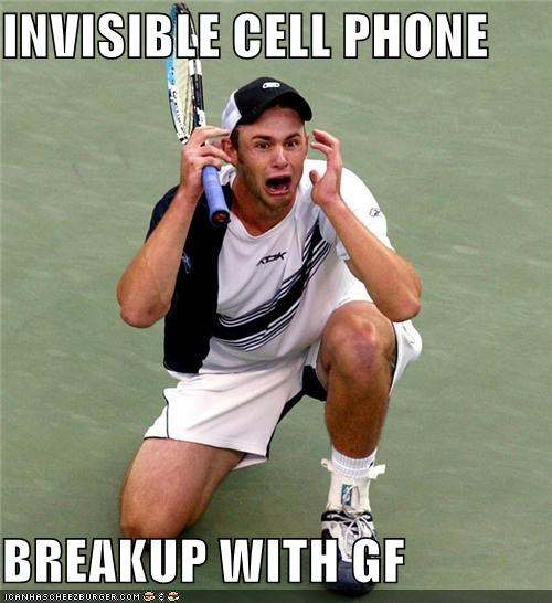INVISIBLE CELL PHONE BREAKUP WITH GF