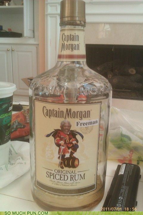 addition,alcohol,alteration,captain morgan,freeman,Hall of Fame,literalism,Morgan Freeman,Rum
