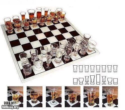 alcohol,board game,chess,drinking,game,shot glass,shots