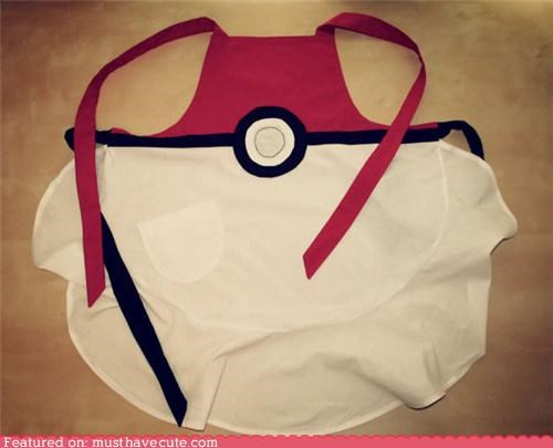 apparel,apron,kitchen,pokeball,Pokémon