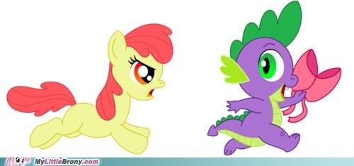 apple bloom ponies ribbon spike tease - 5130667520
