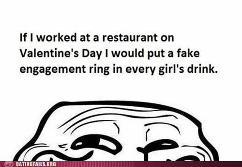 engagement,restaurant,trolling,Valentines day,We Are Dating