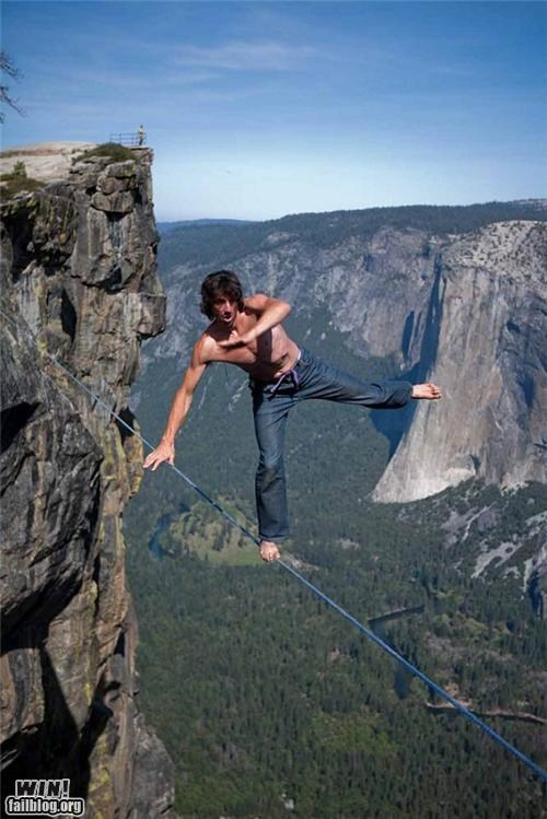 balance dont-fall-for-it mountain stunt tightrope vertigo - 5130785280