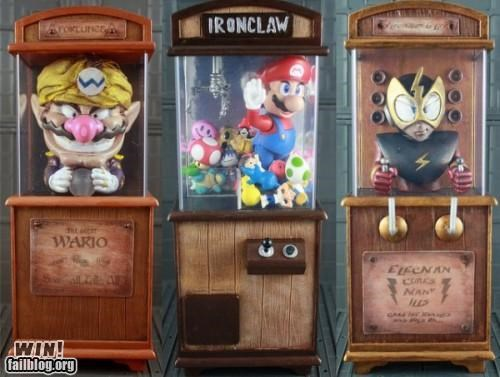 arcade,boardwalk,fortune teller,mario,megaman,nerdgasm,super mario,wario