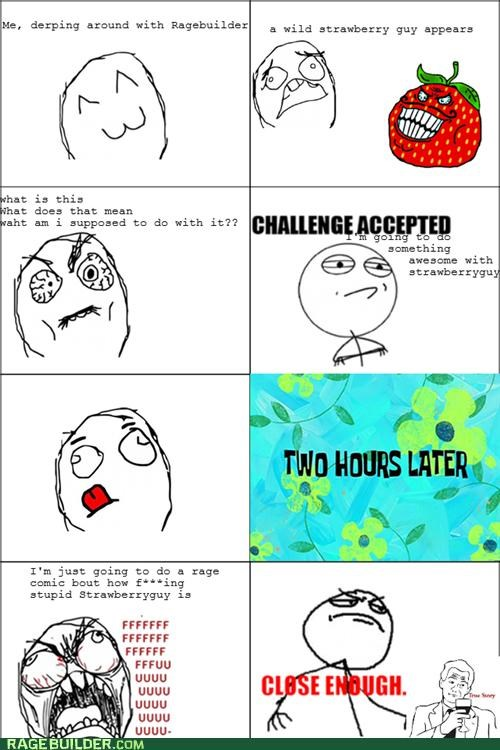 decisions poll Rage Comics strawberry guy