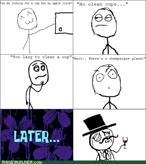 champagne cups juice sir Rage Comics - 5130933248
