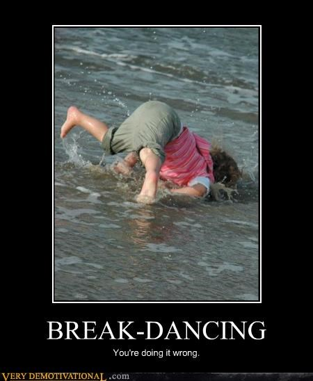 beach,break dancing,hilarious,ocean,wrong