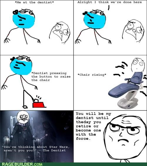 awesome,darth vader,dentist,Rage Comics