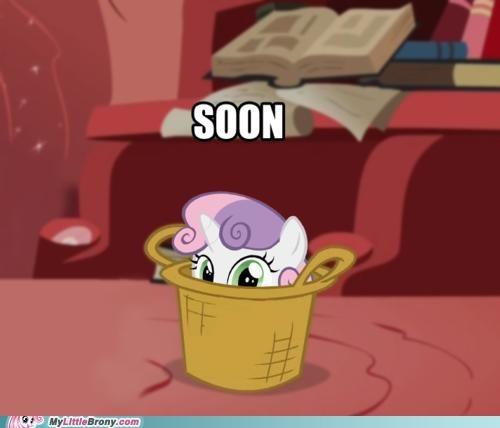 hiding Impending Doom meme SOON Sweetie Belle - 5131625216