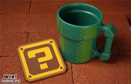 beverage cup drink mario mug nerdgasm super mario Videogames - 5131638272