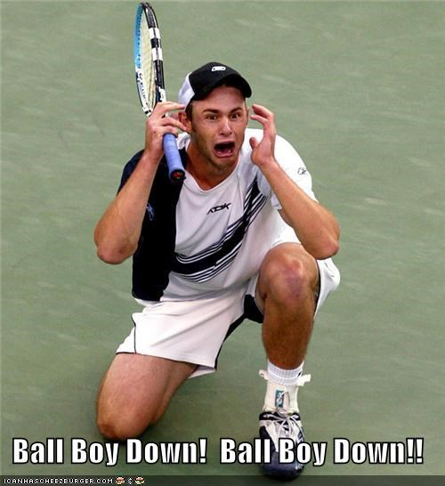 andy roddick ball boy crying screaming sports tennis Up Next in Sports yelling - 5132041216