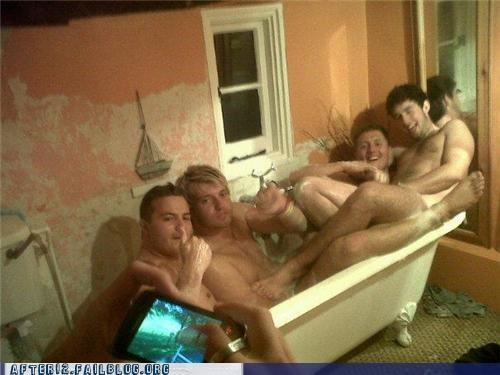 bathtub,bromance,naked,no homo