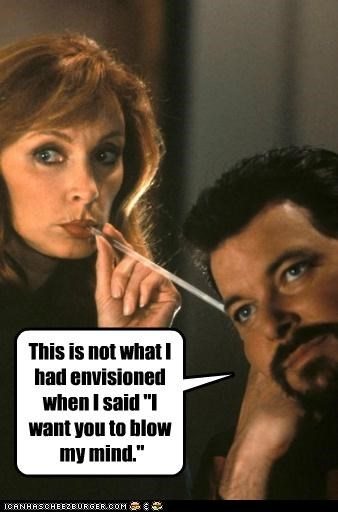 actor celeb funny Jonathan Frakes Marina Sirtis sci fi Star Trek TV - 5132524032