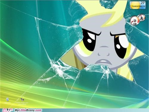 4th wall computer derpy hooves interrupted ponies windows - 5132726784