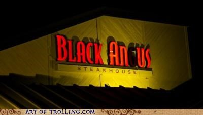 best of week,black angus,IRL,restaurant,sign