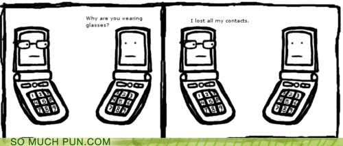 cell phone,contacts,double meaning,explanation,glasses,Hall of Fame,literalism,lost,phone,phones