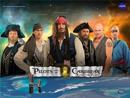 expedition 30,mission posters,nasa,Pirates of the Caribbean,space,space pirates