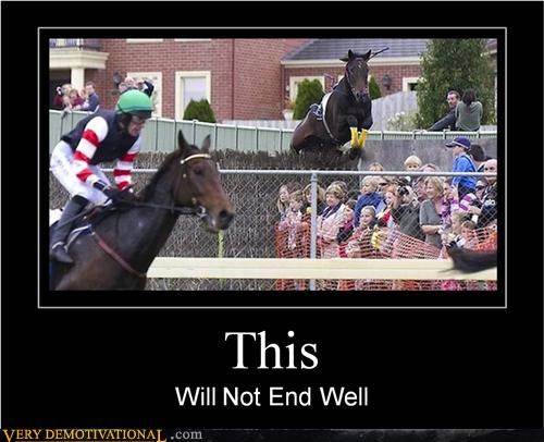 crowd horse shouldnt-go-there Terrifying yikes - 5133512192