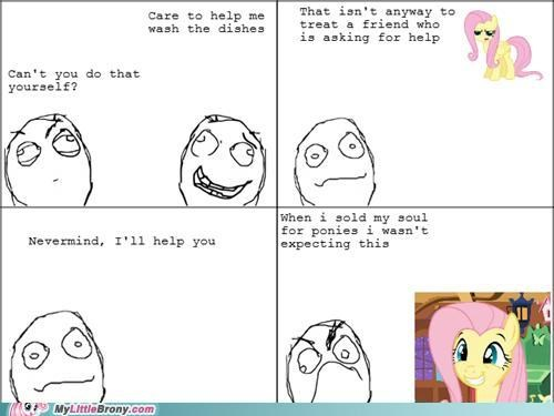 best of week doing dishes fluttershy friendship influence true brony - 5133658880