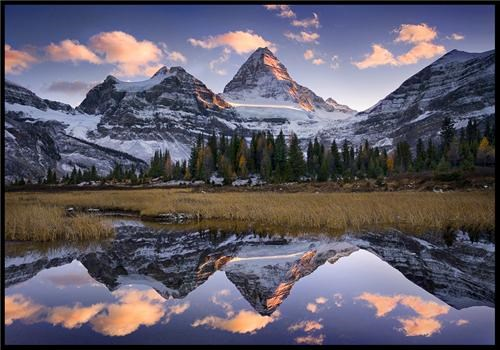 alberta Canada getaways lake north america reflection rocky mountains snow user submitted water - 5133981952