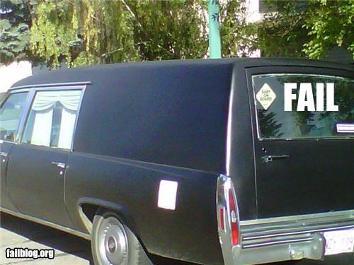 bumper sticker,Death,failboat,funeral,g rated,hearse