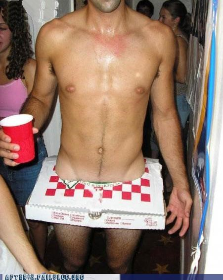 costume party pizza box sausage - 5134038272