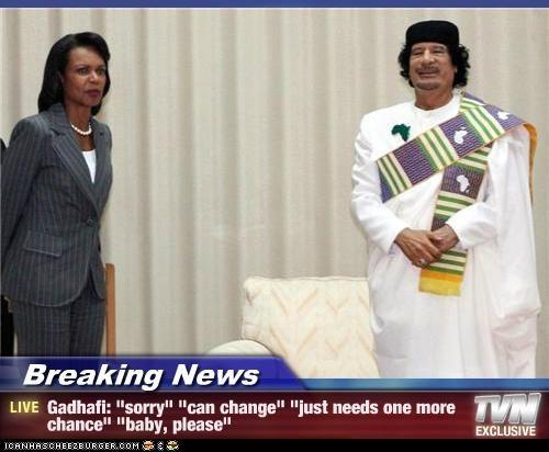 Condoleezza Rice,moammar gadhafi,political pictures