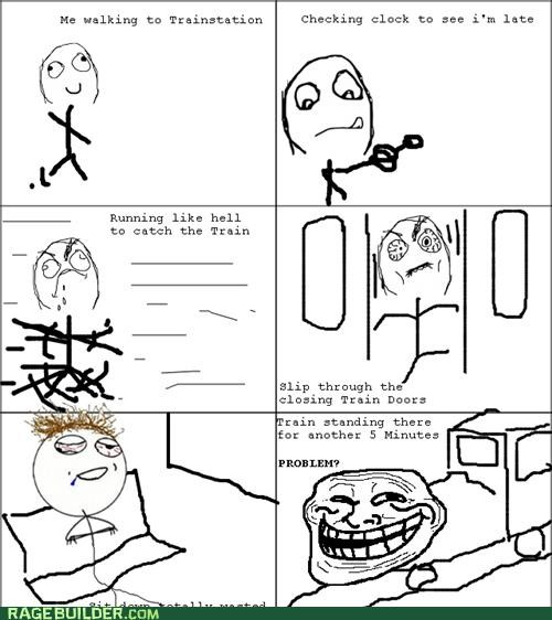 challenge completed late Rage Comics train
