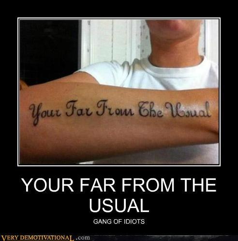grammar idiots tattoo wtf - 5134252288