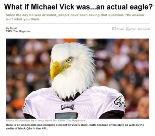 Asking The Tough Question,fun with photoshop,michael vick,This Looks Shopped