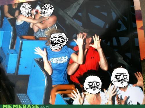 IRL me gusta Rage Comics roller coaster troll - 5134397952