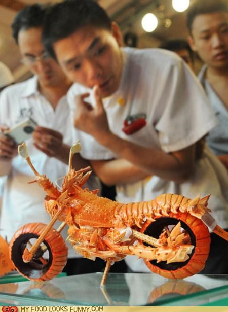 art,best of the week,lobster,motorcycle,sculpture,shell