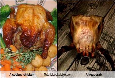 "A Cooked Chicken Totally Looks Like A Headcrab from ""Half-Life"""