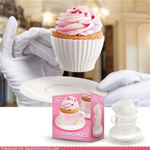 cup cupcake epicute frosting tea teacup - 5134708992