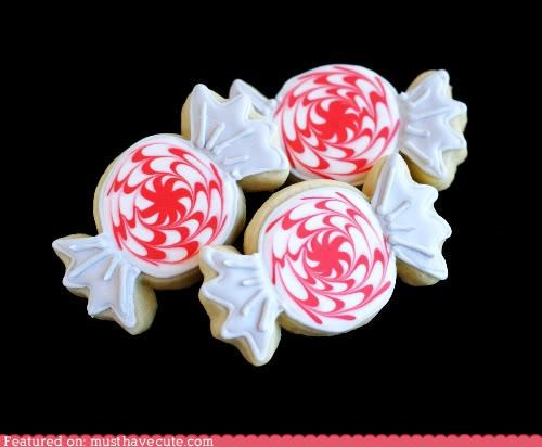 candy cookies epicute icing peppermint swirls - 5134731264