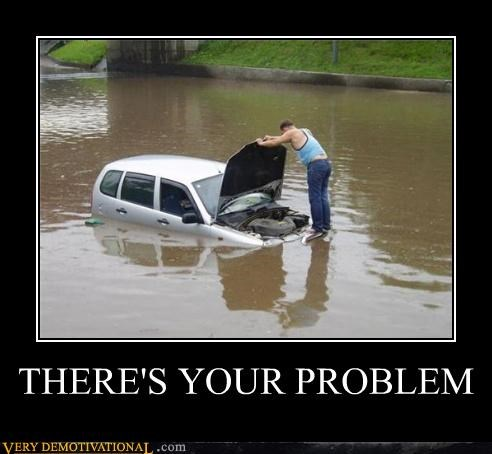 car,flood,hilarious,problem