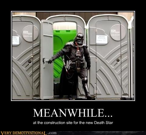 darth vader,Death Star,hilarious,star wars,toilet