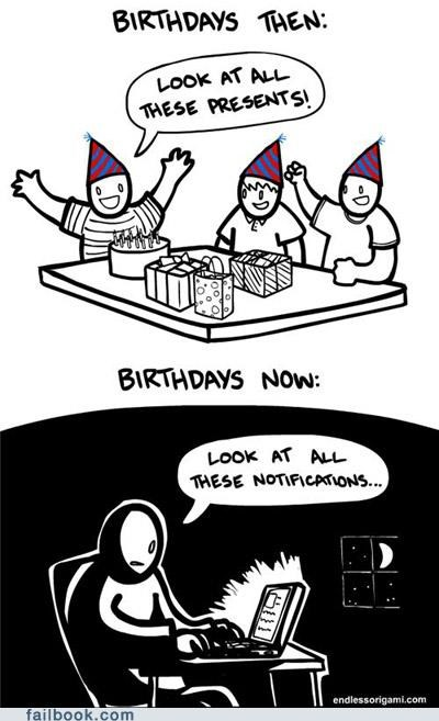 birthday sad but true Then And Now