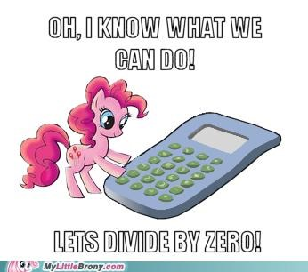 calculator divide by zero pinkie pie ponies smart - 5134826496