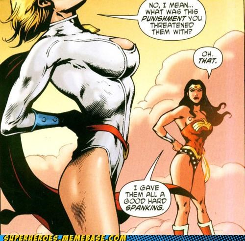 power girl,spanking,Straight off the Page,that sounds naughty,wonder woman