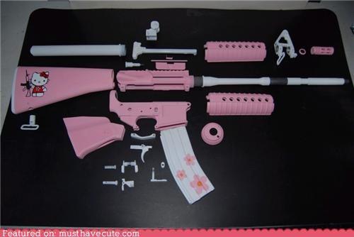 ak 47 best of the week firearms gun hello kitty pink - 5134868480