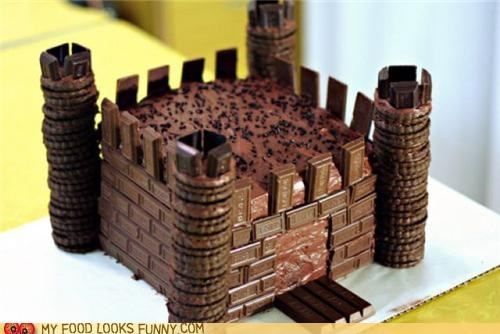 castle chocolate fortress sculpture sweets
