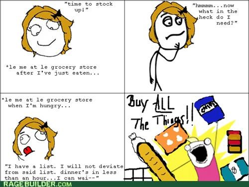 all the guy all the things food Rage Comics shopping