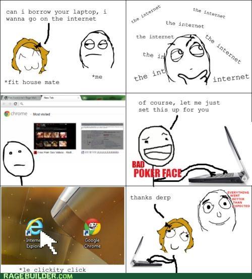 Awkward faptimes internet explorer Rage Comics roommate - 5135059712