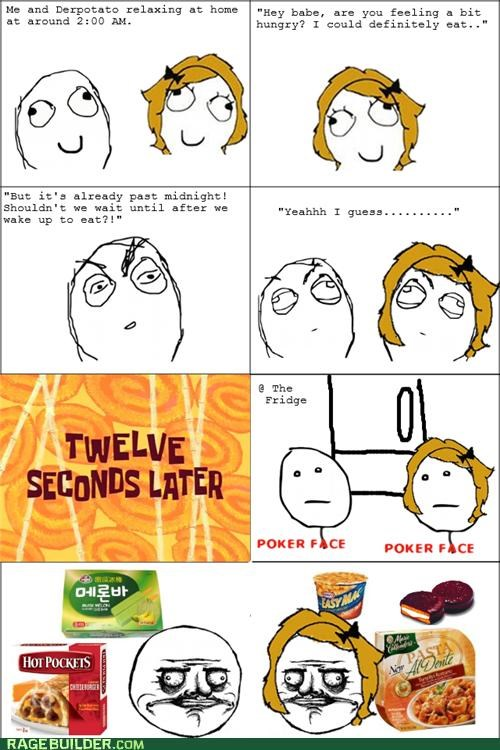 hungry midnight snack poker face Rage Comics - 5135065600