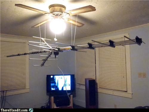 Hurricane Irene - adjustable TV antenna rotor