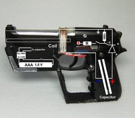 airsoft gun,capacitor,coil gun,daily diy,DIY,guns