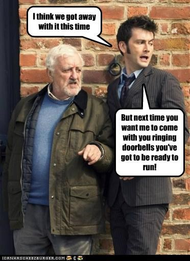 actor,Bernard Cribbins,celeb,David Tennant,doctor who,funny,sci fi